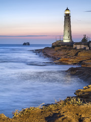 Lighthouse in twilight