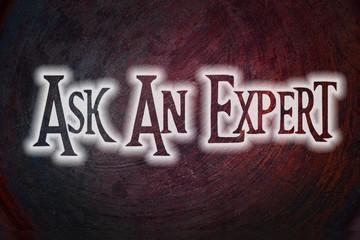 Ask An Expert Concept