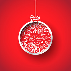 Christmas ball, Christmas tree decorations. vector.