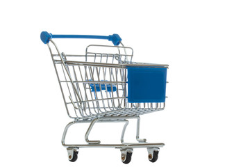 Shopping cart isolated over white