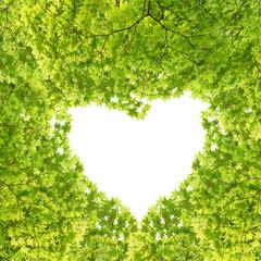 新緑のハートのフレーム