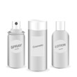 Vector of Cosmetic bottle , Spray ,lotion template