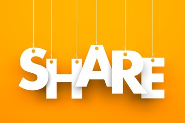 Share. Text on the string