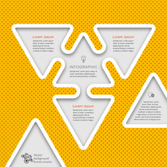 Infographics Vector Background #Business Plan, Triangle