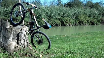 Parcheggio per mountain bike