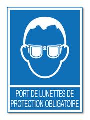 Logo lunettes de protection.