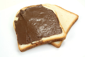 tartine au chocolat