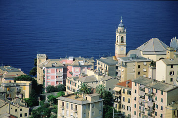 portofino vista città dall'alto