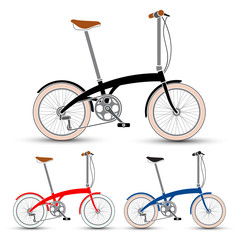 Bicycles vector/Mini Style Bicycles set vector illustration
