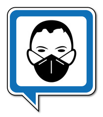 Logo masque de protection.