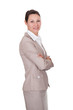 Confident Businesswoman Standing Arms Crossed