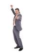 Confident Mature Businessman Gesturing Thumbs Up