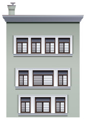 A multi-story building