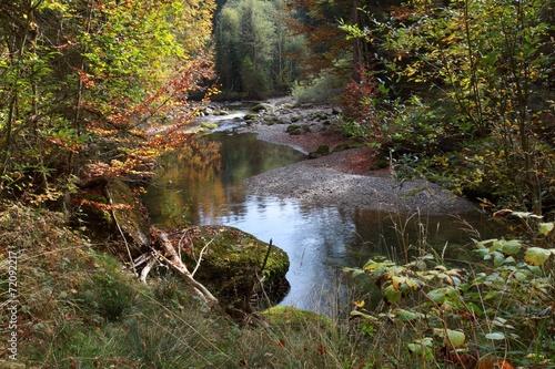 canvas print picture Herbststimmung am Wasser