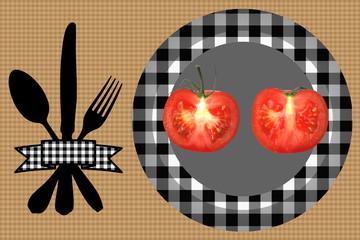 Tomate découpée - Régime alimentaire