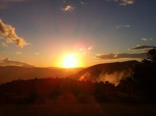 Sonnenuntergang im Appenin