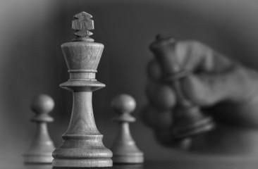 Schach schwarzweiß