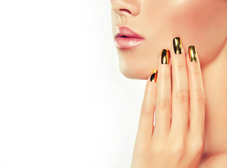 The girl with the Golden metal nails.