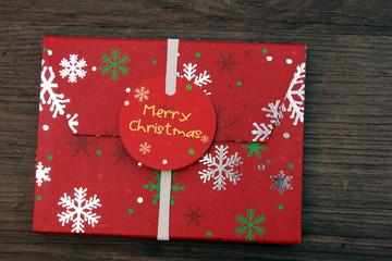weihnachtlicher Umschlag