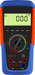 Vector illustration of a digital multimeter
