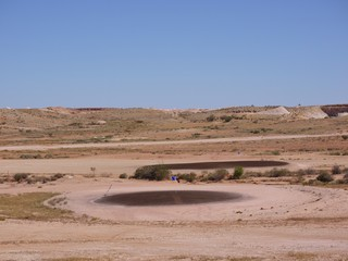 The barren golf courses of Coober Pedy in Australia