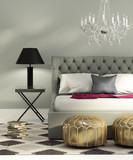 Fototapety Contemporary elegant luxury grey bedroom