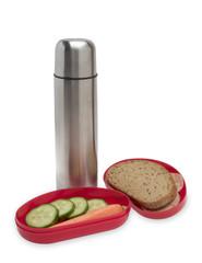 Brotdose mit Thermoskanne (Bauarbeiterfrühstück)