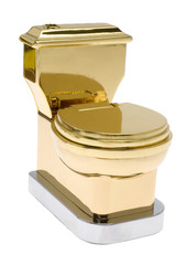 vergoldetes WC