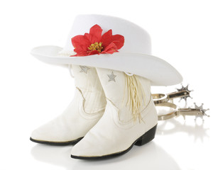 White Cowgirl Christmas