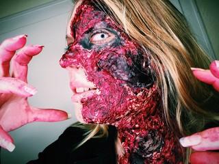 Zombie zu Halloween