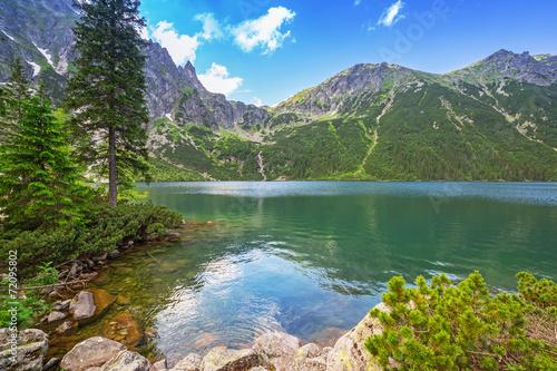 Eye of the Sea lake in Tatra mountains, Poland - 72095802