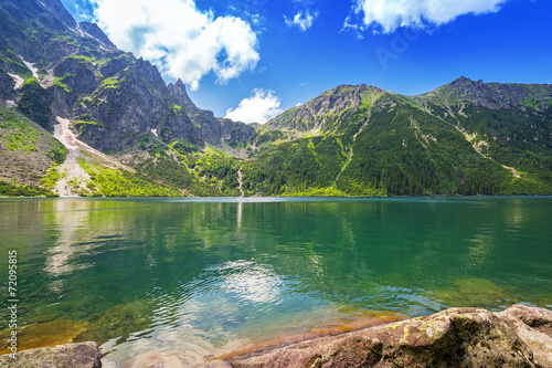 Eye of the Sea lake in Tatra mountains, Poland - 72095815