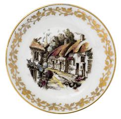Porzellanteller mit Goldverzierung (Sammlerstück)