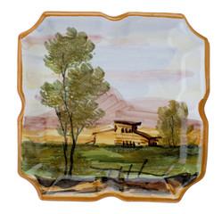 Aschenbecher aus Porzellan mit Malerei