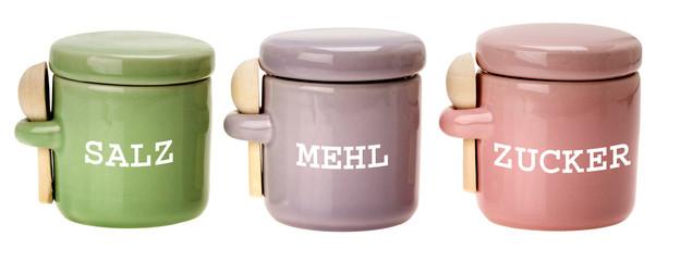 Haushaltsdosen aus Keramik