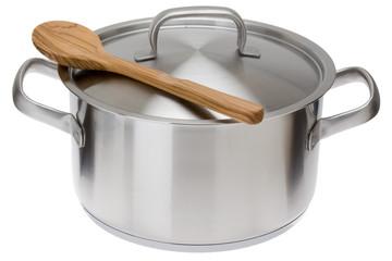 Kochtopf mit Kochlöffel