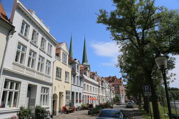 Wohnstrasse in Lübeck