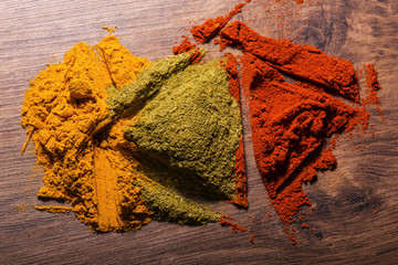 Composition of  different colorful  spices