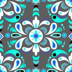 Floral damask seamless pattern background
