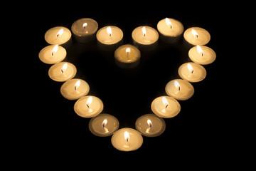 Heart of Tea Candles