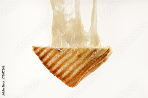 Fotobehang Snack toasted cheddar cheese sandwich turkish toast isolated