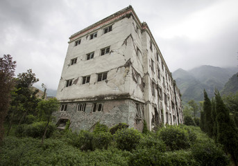 Abandoned earthquake ruins