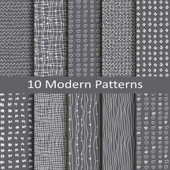 set of ten modern patterns