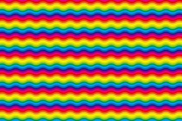 背景素材壁紙(虹色のストライプ, ジグザグ, ウェーブ)