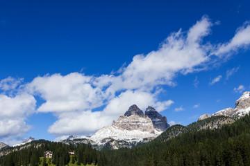 Rückseite Drei Zinnen Dolomiten