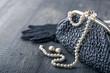 Leinwandbild Motiv Old elegant vintage handbag2