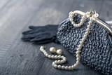 Old elegant vintage handbag2