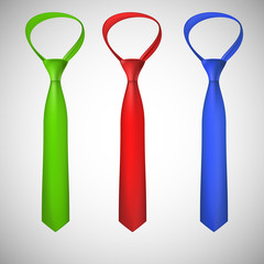 Neck ties collection. Vector illustration