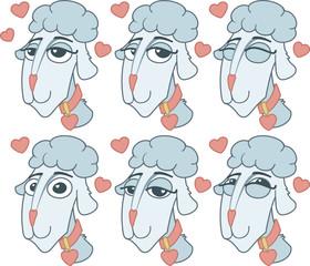 enamored sheep set