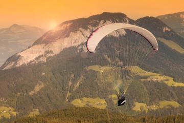 Paraglider in Austrian mountain